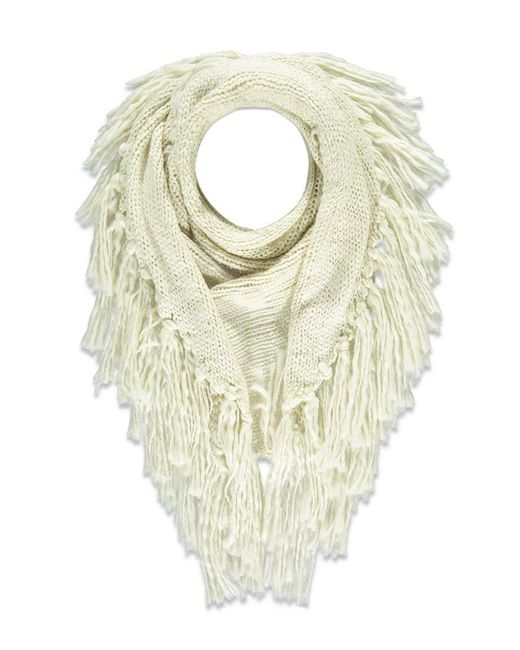 Forever 21   Natural Fringe Marled Triangle Scarf   Lyst