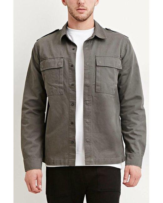 Forever 21 | Green Cotton Utility Jacket for Men | Lyst