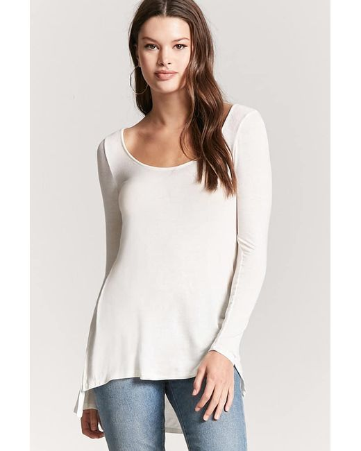 Forever 21 | White High-low Swing Top | Lyst