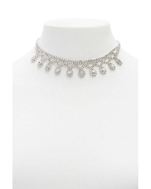Forever 21 - Multicolor Diamante Bib Statement Necklace - Lyst