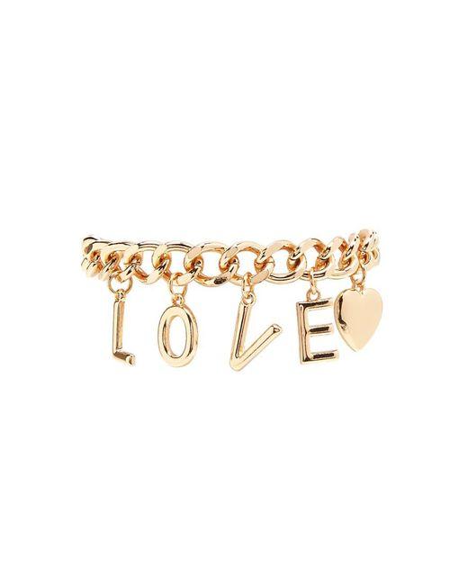 Forever 21 | Metallic Love Charm Bracelet | Lyst