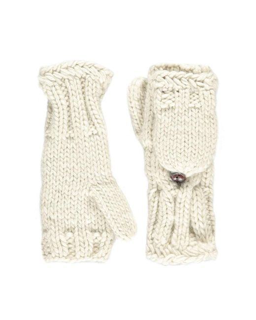 Forever 21 - Natural Cable Knit Convertible Gloves - Lyst