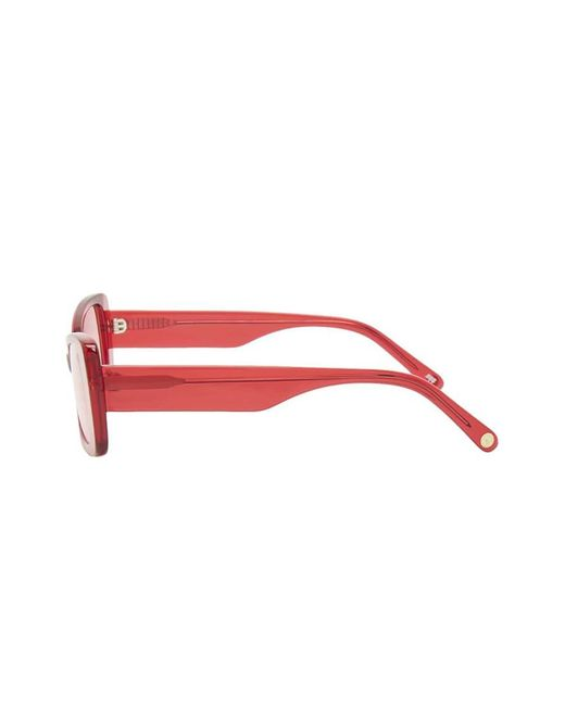adf981b0cecde ... Forever 21 - Red Melt Square Sunglasses - Lyst
