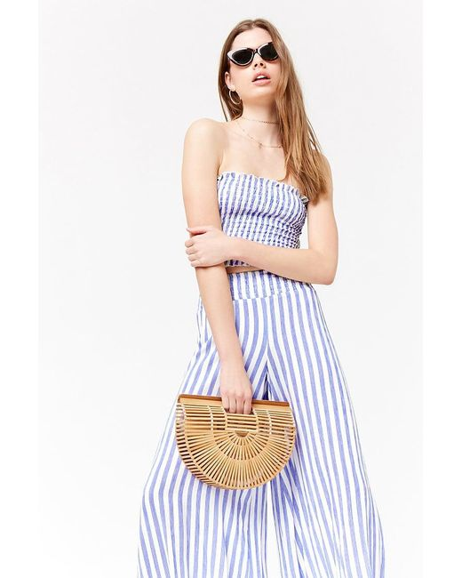 Forever 21 - Blue Striped Palazzo Pants - Lyst