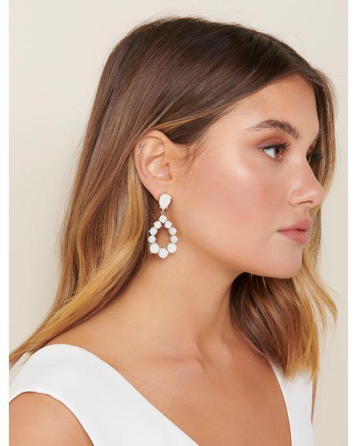 Forever New White Serenity Opal Drop Earrings