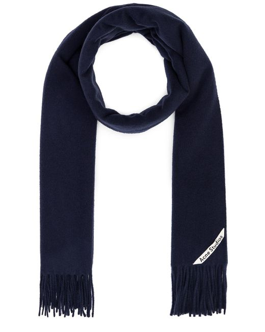 Acne Canada Scarf In - Blue. Size All.