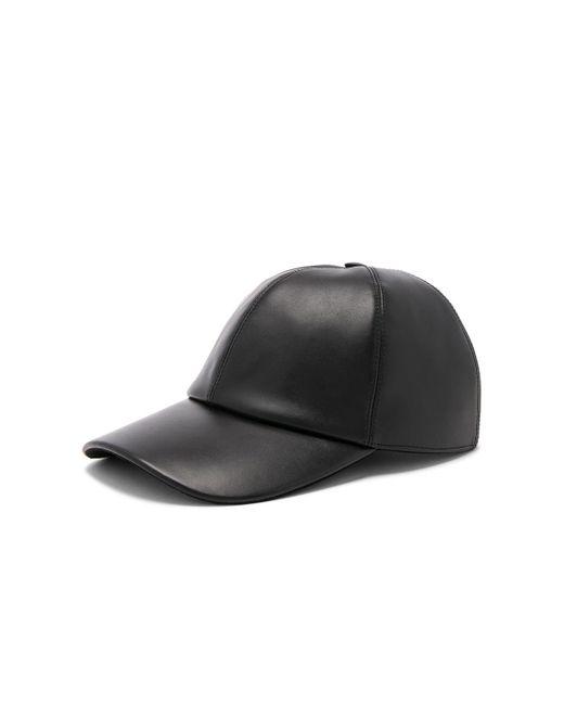 fdaa43747fd ... Buscemi - Black Leather Baseball Cap for Men - Lyst ...