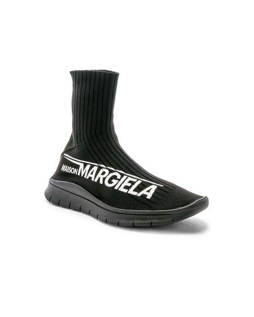 Maison Margiela Black High Top Sock Sneaker for men