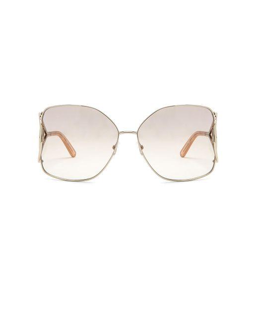 Chloé - Metallic Jackson Sunglasses - Lyst