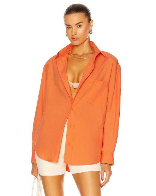 Matteau Orange Relaxed Shirt