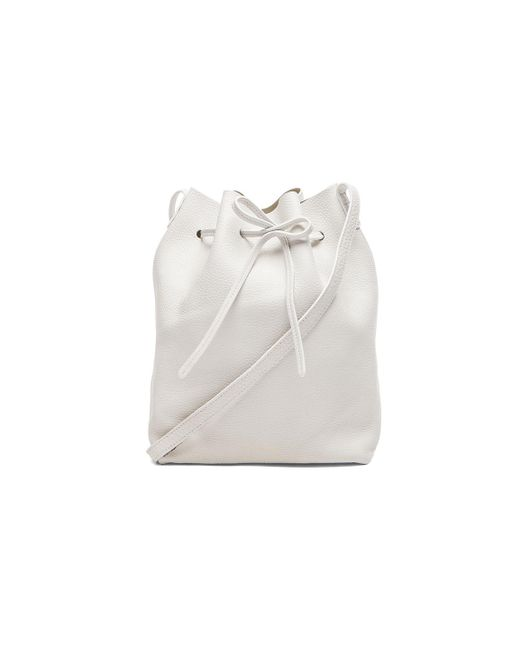 Mansur Gavriel - White Tumble Large Bucket Bag - Lyst