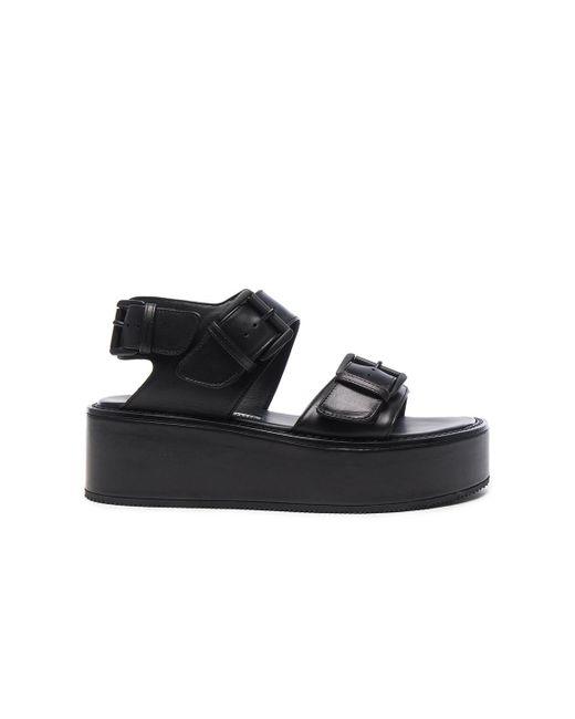 Ann Demeulemeester | Black Leather Platform Sandals | Lyst