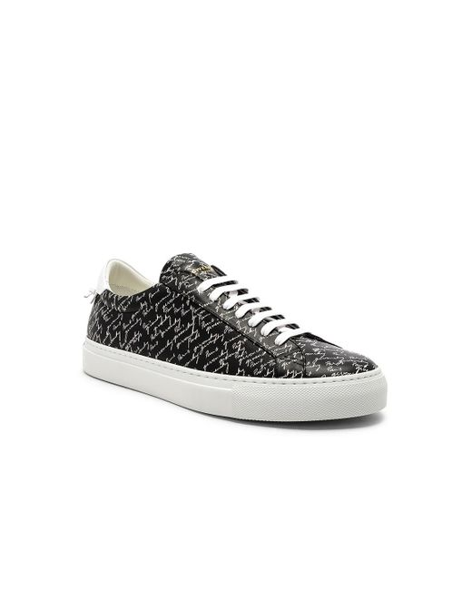 Givenchy - Black Leather Urban Street Sneakers for Men - Lyst