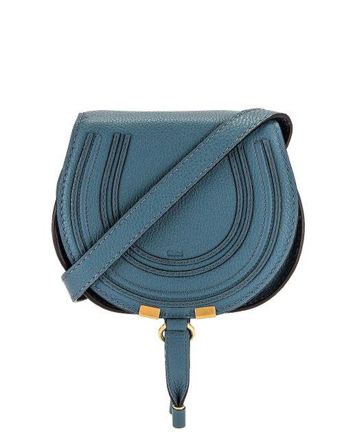 Chloé Blue Small Marcie Saddle Bag