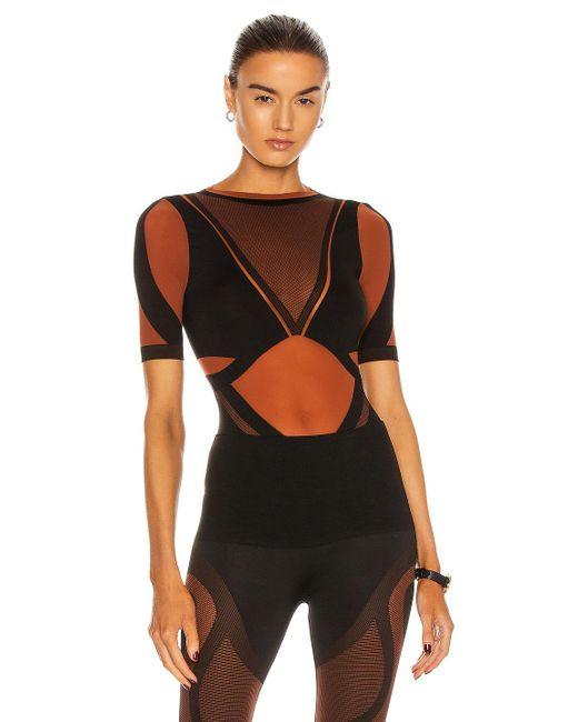 Wolford Black X Adidas Sheer Motion Bodysuit