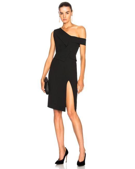 Michelle Mason - Black One Shoulder Dress - Lyst