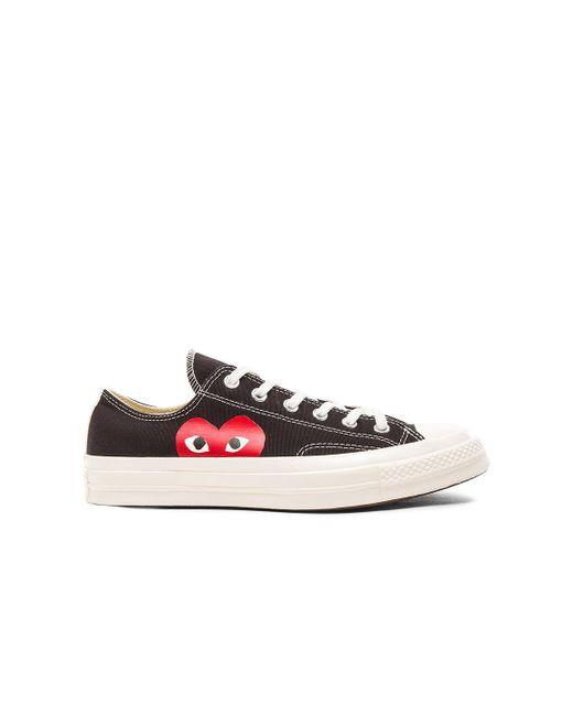 Comme des Garçons - Black Large Emblem Low Top Canvas Sneakers - Lyst