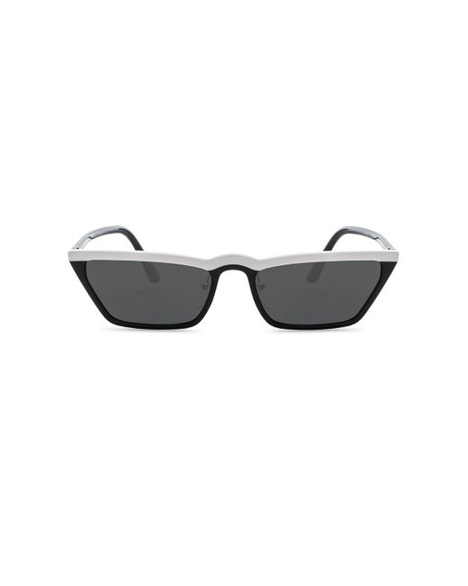 Prada - Black Acetate Low Angle Cut Sunglasses - Lyst