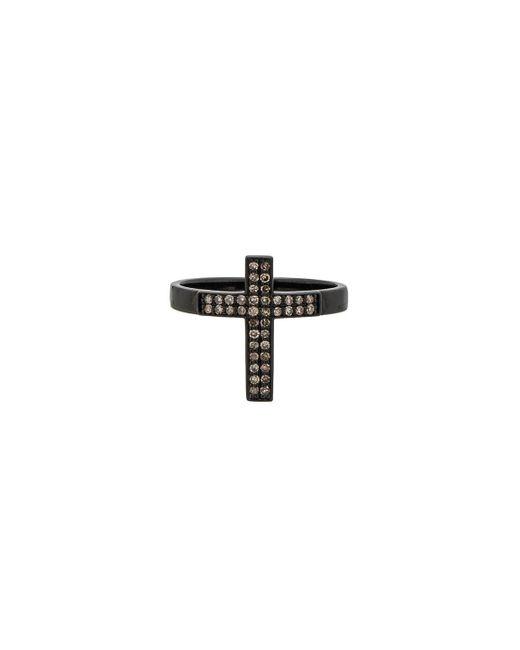 Lynn Ban - Multicolor Pave Cross Ring - Lyst
