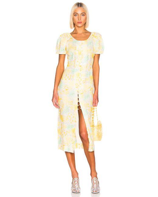 Cult Gaia Yellow Charlotte Dress