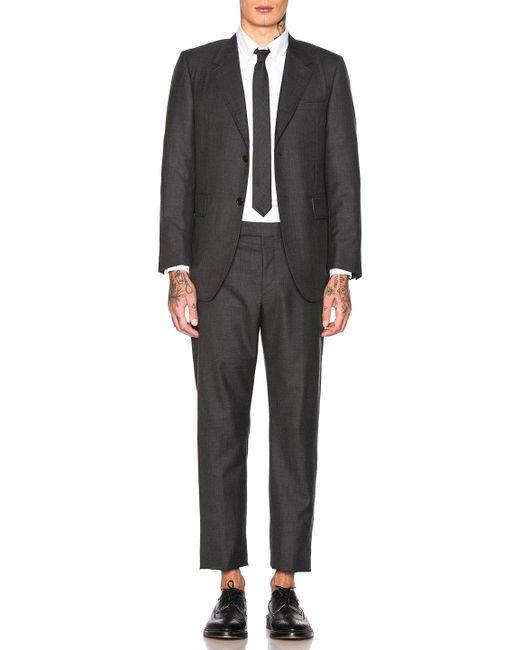 Thom Browne Gray Wide Lapel Suit for men