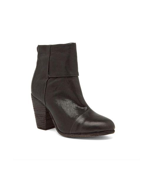 Rag Amp Bone Classic Newbury Leather Ankle Boots In Black