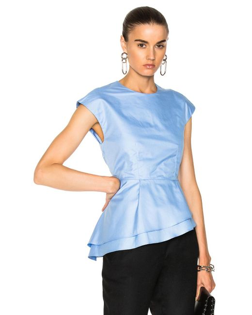 Carven   Blue Baby Doll Top   Lyst