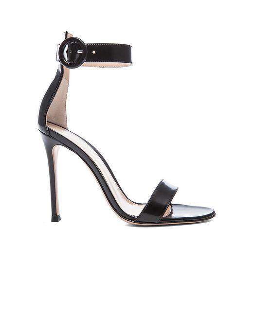 Gianvito Rossi Black Ankle Strap Sandal