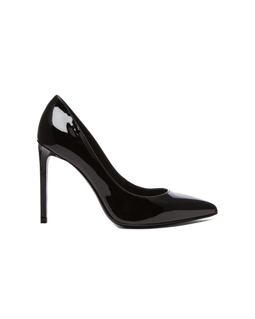 Saint Laurent | Black Patent Leather Paris Skinny Pumps | Lyst