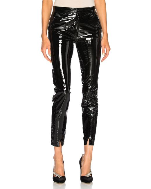 Zeynep Arcay - Leather Pants With Ankle Slits In Black - Lyst
