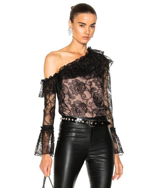 Nicholas | Black Rosie Lace One Shoulder Ruffle Top | Lyst