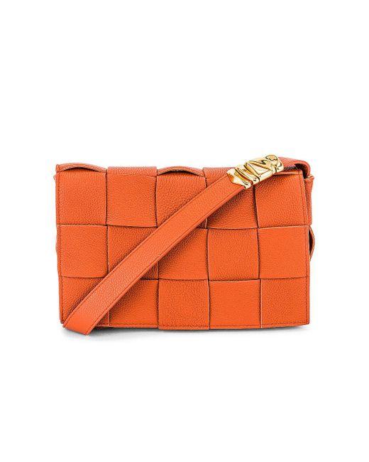 Bottega Veneta Orange The Cassette Bag