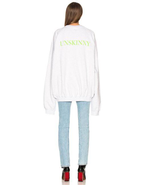 Vetements - Gray Unskinny Crewneck Sweatshirt - Lyst