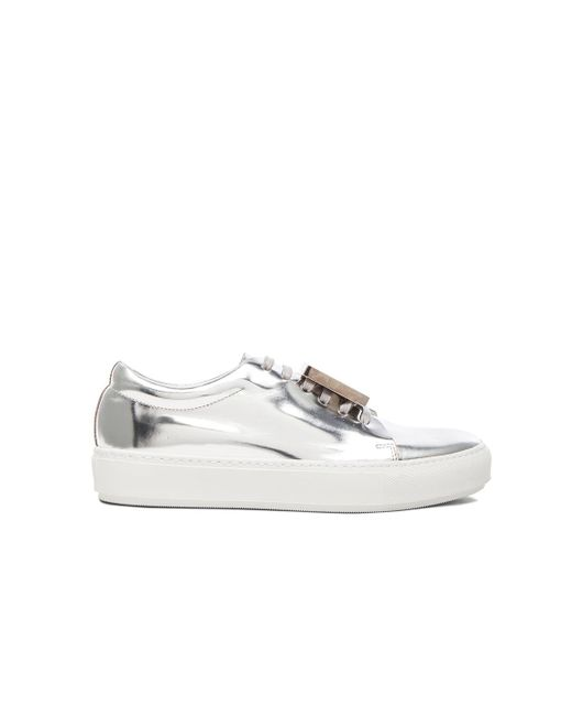 Acne | Adriana Metallic Sneakers | Lyst