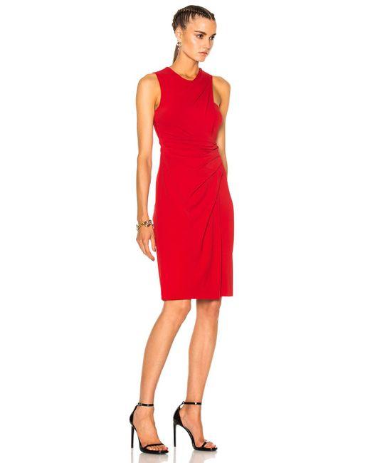 Asymmetric Drape Dress: Alexander Wang Asymmetric Draped Midi Dress In Red