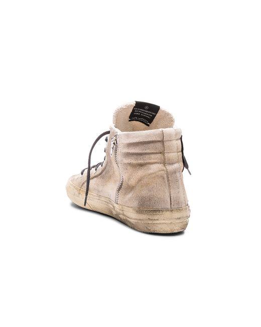 Deluxe Leather Suede Gloves: Golden Goose Deluxe Brand 'francy' Distressed Metallic