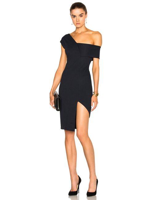 Michelle Mason Asymmetrical Strap Dress In Blue Save 31