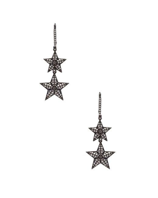 Lynn Ban - Metallic Double Pave Star Earrings - Lyst
