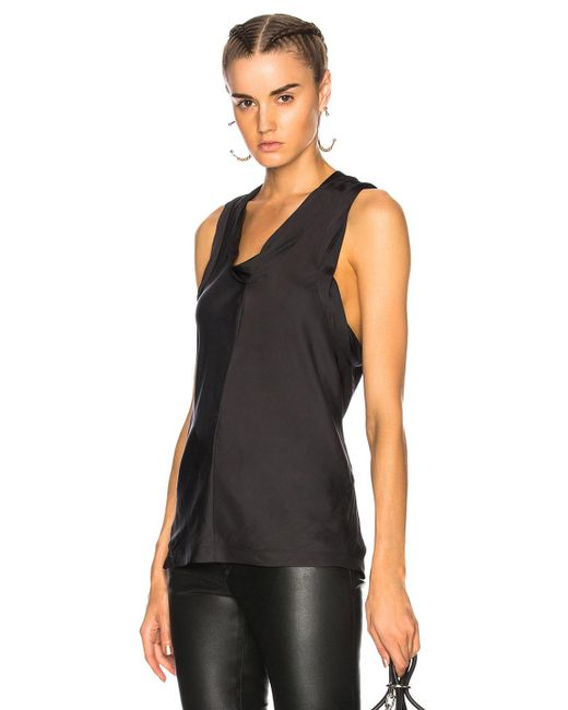 Alexander Wang | Black Paneled Bias Tank Top | Lyst