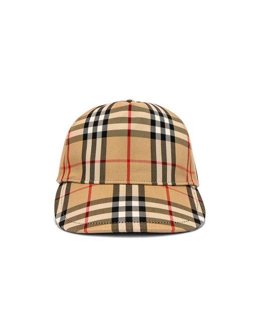 Burberry Multicolor Vintage Check Cap for men