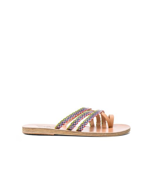 Ancient Greek Sandals | Multicolor Raffia Apli Amalia Sandal | Lyst