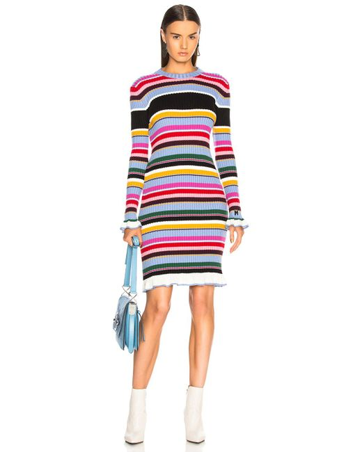 MSGM - Multicolor Striped Sweater Dress - Lyst