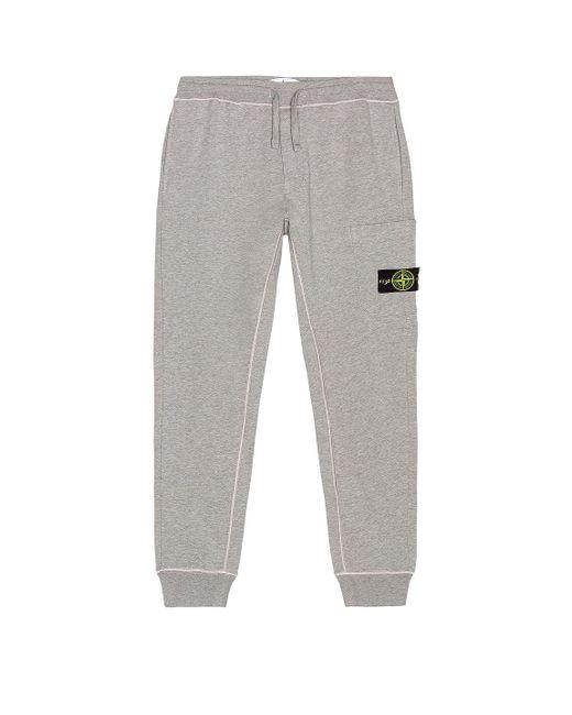 Stone Island Gray Fleece Cargo Pants for men