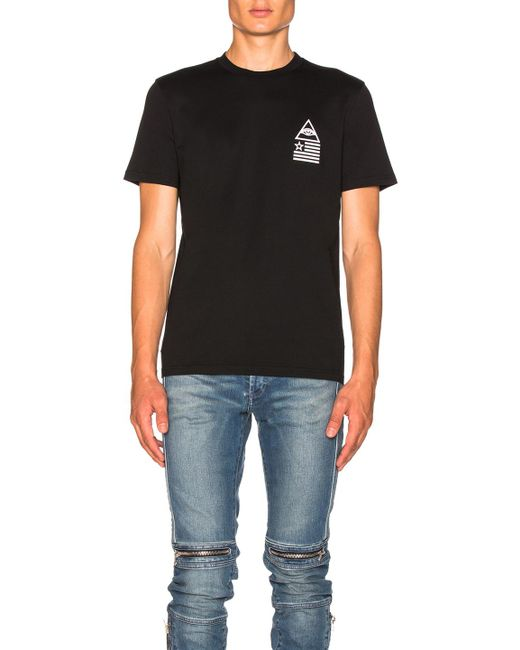 Givenchy | Black Triangle Flag Print Tee for Men | Lyst