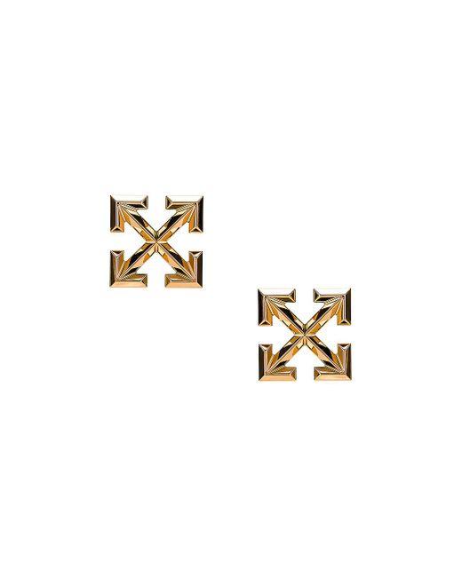 Off-White c/o Virgil Abloh Metallic Big Arrow Earrings