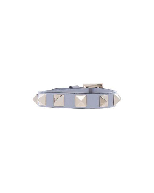 Valentino | Gray Rockstud Bracelet | Lyst