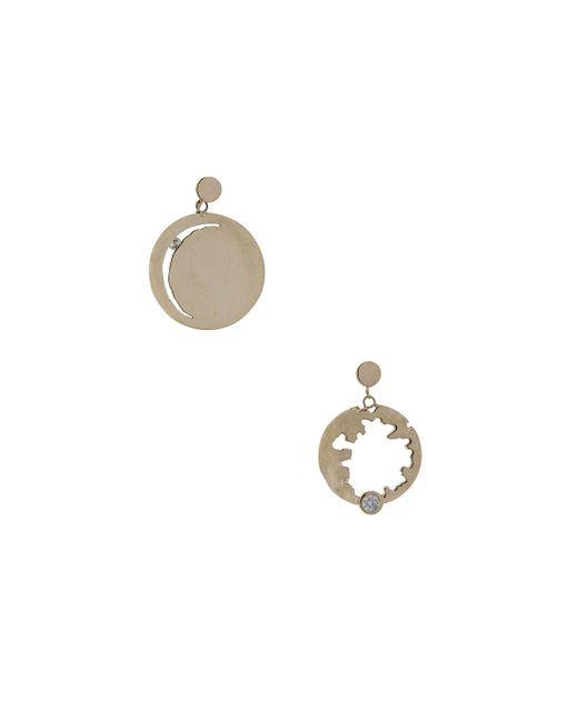 Wassonfine - Metallic Mismatched Statement Earrings - Lyst
