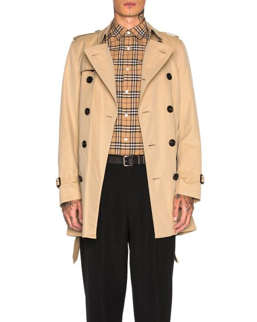 Burberry - Natural Heritage Modern Fit Mid Length Trench for Men - Lyst