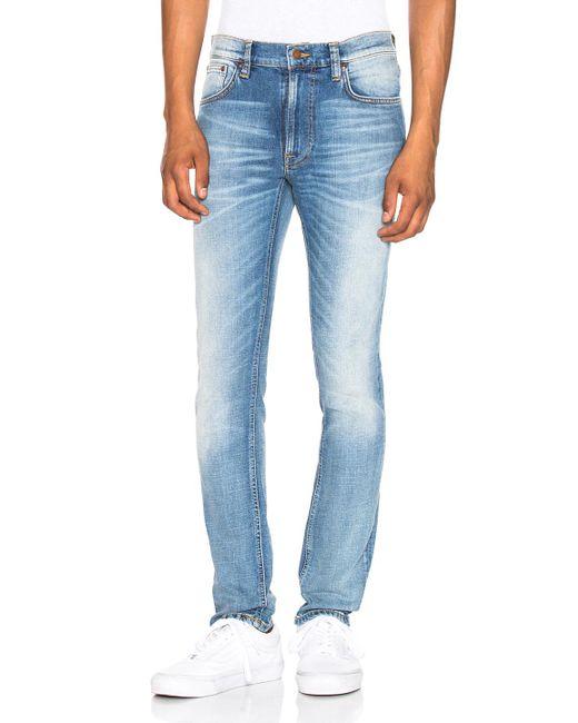 Nudie Jeans - Blue Lean Dean - Lyst