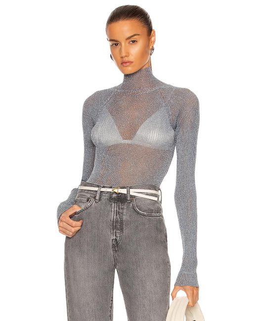 Acne Gray Kalean Knit Top